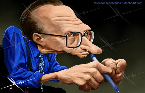 Cartoon: Larry King (medium) by Mecho tagged larry,king