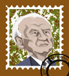 Cartoon: stamp (small) by ivo tagged wow