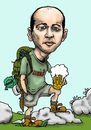 Cartoon: tourist... (small) by ivo tagged wau
