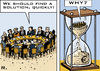 Cartoon: Euro Crisis Summit (small) by RachelGold tagged european union summit 2011 eurocrisis hourglass brussels