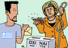 Cartoon: Greek Referendum (small) by RachelGold tagged greece,eu,euro,crisis,austerity,referendum,merkel