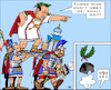 Cartoon: Italian Ex-Caesar (small) by RachelGold tagged italy,election,berlusconi,salvani,lega,forza,fratelli,noi,con,italia,breaking,alliance,caesar,asterix,romans,centurion