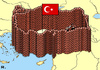 Cartoon: Turkish Diplomacy (small) by RachelGold tagged turkey,world,diplomacy,armenians,genocide