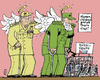 Cartoon: Cuba preparing for Popes Visit (small) by MarkusSzy tagged cuba raul fidel castro release 3000 dissidents
