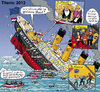 Cartoon: Euro-Titanic (small) by MarkusSzy tagged eurokrise,titanic,klassenkampf