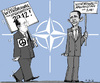 Cartoon: Pacifists Contest (small) by MarkusSzy tagged nato,summit,usa,france,afghanistan,troop,withdrawal