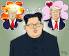 Cartoon: Undecided Kim (small) by MarkusSzy tagged northern,korea,usa,kimjongun,trump,war,peace,missiles,peacetalks,undecided