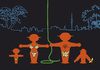 Cartoon: Tarzan mit Familie (small) by Thomas Bühler tagged tarzan,ampelmännchen,jungel