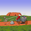 Cartoon: Christmas - down under (small) by Thorsten Klomfass tagged weihnachten weihnachtsmann känguru kutsche hindernis christmas santa claus kangaroo carriage outback ayers rock