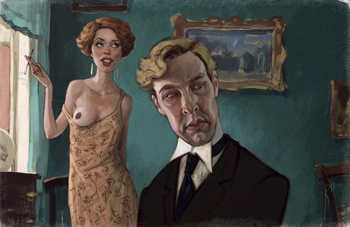 Cartoon: Parades End (medium) by waldemar_kazak tagged movie