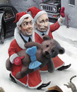 Cartoon: Santas (small) by waldemar_kazak tagged putin new year politics