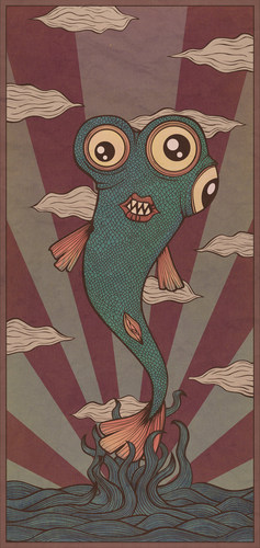 Cartoon: trips and fish (medium) by elmoro tagged illustration,illustrator,digital,vector,psychedelic,trip,art
