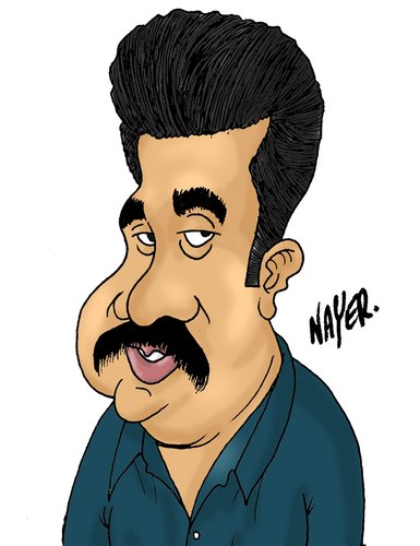 Cartoon: Bijuchandran by Naye (medium) by Nayer tagged bijuchandran,cartoonist,india,sudan,nayer