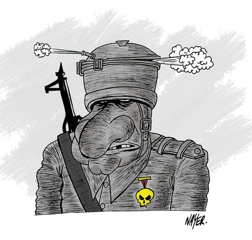 Cartoon: War (medium) by Nayer tagged war,peace,gun,army,death,killer