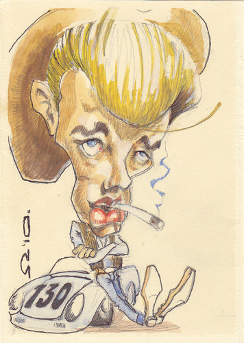 Cartoon: James Dean (medium) by zed tagged james,dean,usa,actor,hollywood,movie,icon,film,portrait,caricature