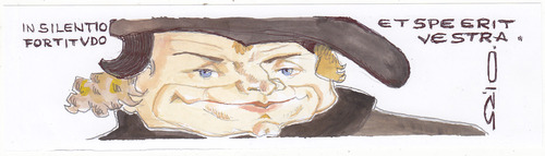 Cartoon: Martin Luther (medium) by zed tagged martin,luther,germany,priest,theology,protestant,reformation,portrait,caricature