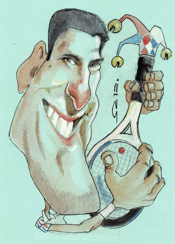 Cartoon: nole (medium) by zed tagged caricature,portrait,sport,tennis,serbia,djokovic,novak