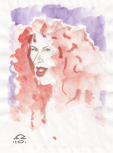 Cartoon: redhead (medium) by zed tagged redhead,woman,portrait