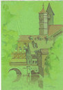 Cartoon: Esslingen 2 (small) by zed tagged eslingen,deutschland