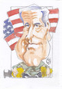 Cartoon: Franklin Delano Roosevelt (small) by zed tagged franklin,delano,roosevelt,usa,new,york,politician,second,world,war,portrait,caricature