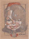 Cartoon: Jackie Kennedy (small) by zed tagged jackie,kennedy,new,york,usa,first,lady,famous,people,portrait,caricature