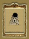 Cartoon: the ape in history-no.6-chaplin (small) by schmidibus tagged sir,charles,spencer,chaplin,komiker,schauspieler,komponist,regisseur,tramp,modern,times,the,great,dictator,landstreicher,stummfilm,filmikone