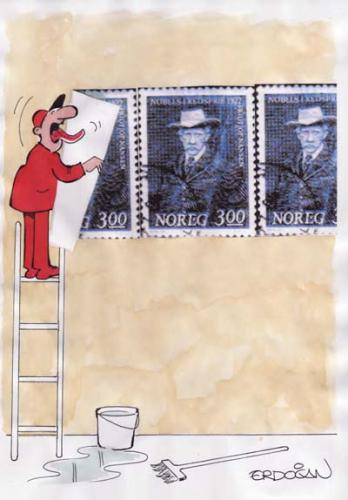 Cartoon: Stamps (medium) by ERDOGAN tagged stamps