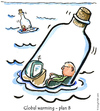 Cartoon: Life goes on (small) by Frits Ahlefeldt tagged climate,global,warming,environment,nature,bottle,flood,funny,cartoon,humor,hikingartist,sea,lonelyness,isolation,island,message,dating,modern,middleage,television