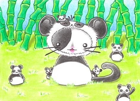 Cartoon: Kitty or Panda III (medium) by Metalbride tagged traiding,card,crads,karten,karte