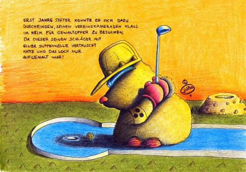 Cartoon: Maulwurf_Minigolf (medium) by Jupp tagged sport,bomm,jupp,golf,minigolf,mole,maulwurf,boom,illustration,bild,heim,spocht,grafik,graphik