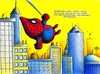 Cartoon: Maulwurf_Spiderman (small) by Jupp tagged maulwurf,mole,spiderman,faultier,radioaktiv,kampf,fight,comic,marvel,sloth,jupp,bomm,design,kolmer,kostüm,netz,wandkletterer,peter,stadt,ny,häuser,new,york,superhero,spinnenmann,bilder,bild,cartoon,illustration