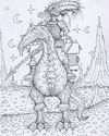 Cartoon: Reiter (small) by Jupp tagged reiter alien planet sf fantasy jäger jupp illustration buch bomm boom design tier märchen fairytale reiten scetch scribble sand wüste fiction drache dragon soldat echse strich ausmalbild reise ritt lanze mond nacht et späher illustrator