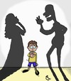 Cartoon: Domestic violence (small) by yara tagged domestic,violence