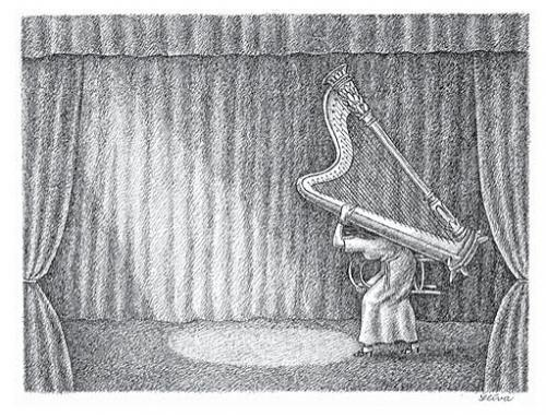 Cartoon: Harp (medium) by Jiri Sliva tagged music
