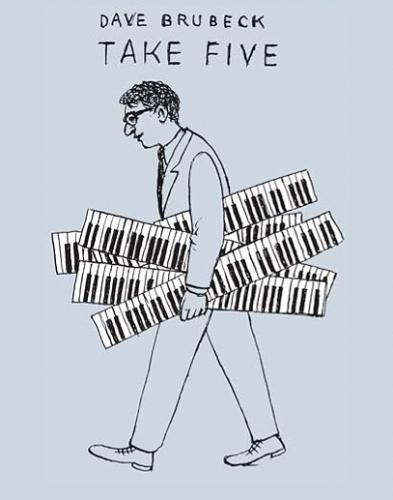 Cartoon: Take Five (medium) by Jiri Sliva tagged brubeck,music,jazz,take,five