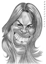 Cartoon: Hilary Swank (small) by shar2001 tagged caricature,hilary,swank