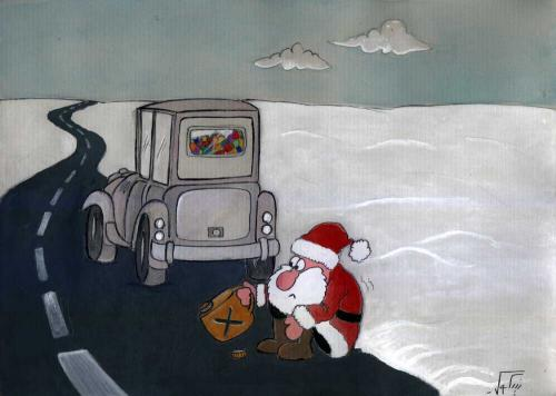 Cartoon: Santa Clause (medium) by nikooray tagged santa,clause,gas