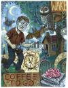 Cartoon: coffee to go (small) by rasmus juul tagged paint,on,board