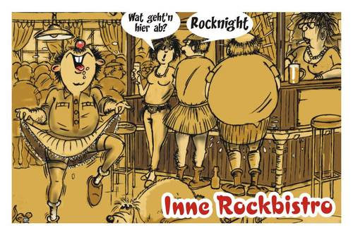Cartoon: Im Rockcafe (medium) by BARHOCKER tagged rockcafe,pub,bistro,musik,tanz