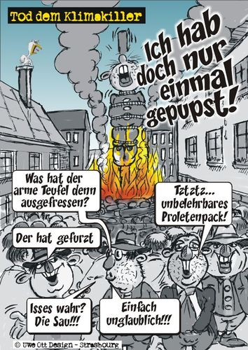 Cartoon: Tod dem Klimakiller (medium) by BARHOCKER tagged klima,klimagate,rderwärmung,uwe,ott,design