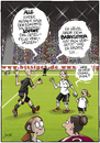 Cartoon: Eskorte (small) by andre sedlaczek tagged frauenfussball wm