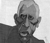 Cartoon: J.D.Salinger (small) by Mattia Massolini tagged caricature