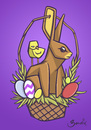 Cartoon: Easter Basket (small) by Playa from the Hymalaya tagged easter,ostern,basket,korb,osterkorb,rabbit,bunny,hase,osterhase,egg,eggs,ei,eier,osterei,chick,feldgling,küken,holiday,feiertag,animal,animals,tier,tiere