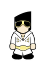 Cartoon: Elvis Presley (small) by Playa from the Hymalaya tagged elvis,presley,sänger,singer,artist,music,musik,pop,popstar,star,celebrity,berühmtheit,promi,prominent,musician,musiker,las,vegas,the,king
