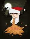 Cartoon: Xmas (small) by Playa from the Hymalaya tagged xmas,christmas,weihnachten,santa,claus,weihnachtsmann,vomit,barf,kotzen,forest,wald,moon,mond,fir,tree,tanne