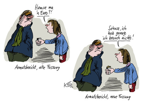 Cartoon: Armutsbericht (medium) by Stuttmann tagged armutsbericht