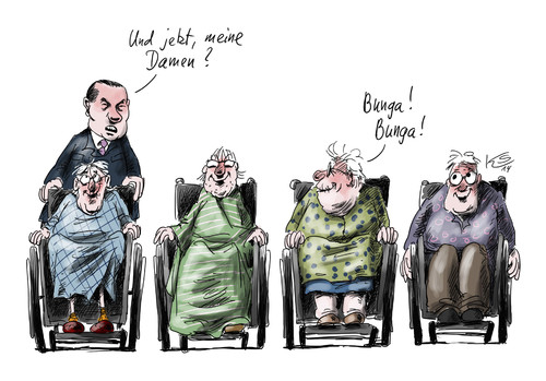 Cartoon: Sozialdienst (medium) by Stuttmann tagged berlusconi,sozialdienst,italien