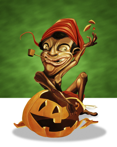Cartoon: Saci X Halloween (medium) by Toni DAgostinho tagged saci
