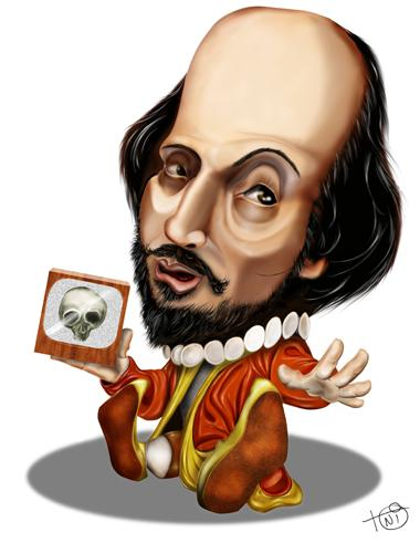Cartoon: Shakespeare (medium) by Toni DAgostinho tagged caricature