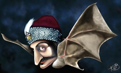 Cartoon: Vlad Tepes - Dracula (medium) by Toni DAgostinho tagged caricature